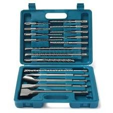 17pcs SDS Drill And Chisel Set Straight Tipped In Concrete Granite And Brick