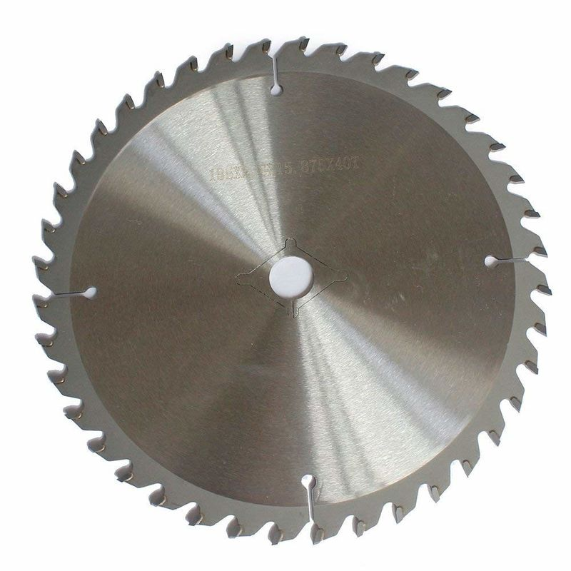 7-1/4 Inch 40 Tooth TCT Carbide Circular Saw Blade For Hard Soft Wood